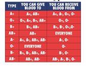 مركز الدم بنيويورك يكشف حقيقة فصائل الدم الأكثر توافقا