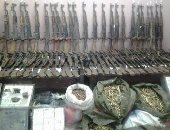 الداخلية تضبط 74 قطعة سلاح فى مداهمات أمنية للبؤر الإجرامية