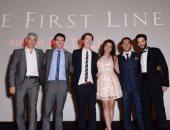 كريم قاسم ينشر صور له من العرض الخاص للفيلم الأمريكى The First Line