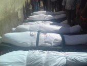 """بالفيديو والصور.. دفن 52 جثة مجهولة من """"ضحايا مركب رشيد"""" فى مدافن الصدقة بالبحيرة"""