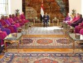 السيسي لوفد الكنيسة الإنجليكية الإنجليزية: لا يوجد تمييز دينى فى مصر