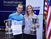 13 لاعبا مصريا يشاركون فى بطولة أمريكا المفتوحة للإسكواش