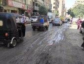 بالصور.. أهالى شارع جمال عبدالناصر بجسر السويس يشتكون من طفح المجارى