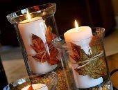 الخريف برا وجوا..بالصور إتعلمى إزاى تزينى بيتك بأوراق الشجر الملونة