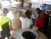 بالصور.. مهندس يتبرع بمحطة تنقية مياه لمدرسة اللاعب محمد صلاح فى الغربية