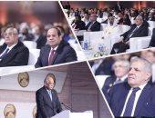 السيسى وعدلى منصور يتصدران المشاركين فى احتفالية البرلمان بشرم الشيخ