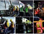 إصابة عشرات الأشخاص بعد خروج قطار عن القضبان بولاية نيويورك الأمريكية