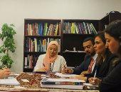 سحر نصر تناقش مع وزير الاقتصاد السويسرى دعم بلاده لإزالة الألغام