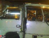 إصابة 7 أشخاص فى انقلاب سيارة مكروباص بالعاشر من رمضان
