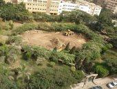 سكان مكرم عبيد يطالبون محافظ القاهرة وقف تجريف حديقة الشارع