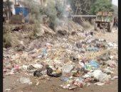 بالصور.. تلال القمامة تحاصر المدرسة الثانوية بقرية شبرا بابل فى المحلة