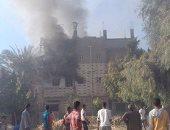 إصابة 4 أشخاص فى حريقين منفصلين واحتراق 8 منازل وأحواش بسوهاج
