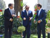 ننشر صور غرس السيسى وزعيمى قبرص واليونان لأشجار الزيتون بالاتحادية