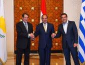 رئيس قبرص يغادر القاهرة بعد انتهاء القمة المصرية اليونانية القبرصية
