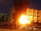 نفوق 3 حيوانات في حريق التهم حوش ملحق بمنزل فى البلينا بسوهاج
