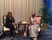 غادة والى تلتقى رئيس البرلمان الإفريقى قبل انطلاق المؤتمر التاسع للمرأة