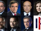 رجل يطرح السياسية الفرنسية ناتالى كوسيوسكو أرضا خلال حملتها الانتخابية