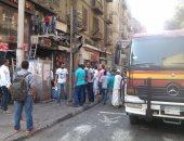 نشوب حريق داخل سوق رابعة بمدينة السادات.. وسيارات الإطفاء تحاول السيطرة