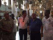 بالفيديو والصور.. رئيس البرلمان الأفريقى يتجول داخل كنيسة ومتحف دير سانت كاترين