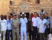 بالصور.. رئيس البرلمان الأفريقى ينهى جولته بدير سانت كاترين