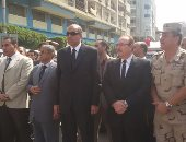بالصور ..بنى سويف تودع شهيدى كمين زقدان بمظاهرة ضد الإرهاب