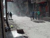 """بالصور.. أهالى """"دسوق"""" بكفر الشيخ يطالبون برصف طريق """"الشهيد المغربى"""""""