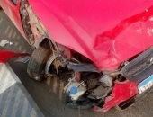 إصابة شخصين فى حادث تصادم ميكروباص بجرار زراعى بأسيوط