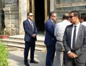 وزير الآثار يتفقد قصر الساككينى للاطمئنان على حالته عقب الحريق