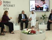 """""""الاتصالات"""" تبحث تبادل المعلومات والمعرفة مع مدينة دبى للإنترنت"""