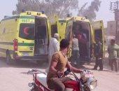 وصول عامل وسائق من العريش مستشفى العبور بالشرقية مصابين فى انفجار
