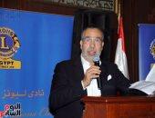 مدحت العدل وعلا الشافعى فى مؤتمر بإعلام القاهرة عن الخطاب الدينى