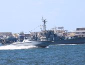 القوات البحرية تساهم فى انتشال الحوت النافق على شاطئ الإسكندرية
