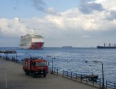 """بالصور.. وصول السفينة السياحية """"Genting dream"""" لميناء بورسعيد السياحى"""