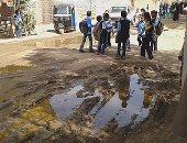 """قرية عطوانى بأسوان تغرق فى """"الصرف"""".. والأهالى: المياه حاصرت المدارس"""