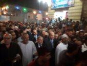 بالصور.. مدير أمن ومحافظ القليوبية يتقدمان جنازة عسكرية للشهيد شريف بيومى