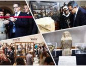 خالد العنانى يفتتح معرض المضبوطات الأثرية بالمتحف المصرى