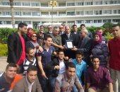 جامعة طنطا في زيارة لمصابي القوات المسلحة بمستشفى المعادي العسكرى