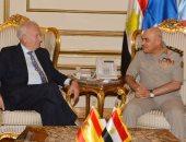 الفريق أول صدقى صبحى يبحث مع وزير خارجية إسبانيا دعم التعاون المشترك