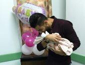 """النادى الأهلى يهنئ عمرو السولية بالمولودة الجديدة """"ليلى"""""""