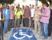 عمل مداخل خاصة لمتحدى الإعاقة بالميادين والمؤسسات الحكومية بالمنيا