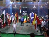 الشوربجى يرفع علم مصر فى مراسم افتتاح بطولة العالم للإسكواش