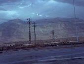 سقوط أمطار على مناطق متفرقة فى السويس..وانتظام العمل بالموانىء