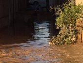 """بالصور.. """"الإذاعة والمعاشات والـ 128 .. أكثر الأماكن تضررا من السيول بغارب"""