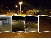 مياه السيول تجتاح منازل مدينة رأس غارب والأهالى يستغيثون