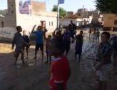 """بالفيديو.. أطفال """"حاجر سوهاج"""" يستغيثون : الحقنا يا ريس"""