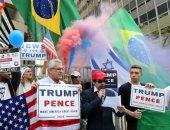 بالصور.. اشتباكات بين مؤيدى ترامب وكلينتون فى البرازيل