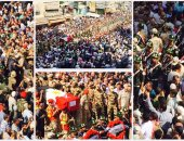 الآلاف يشاركون فى تشييع جثمان الشهيد رامى حسنين قائد كتيبة الصاعقة بالبحيرة