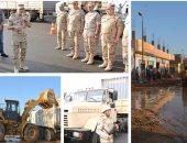 استمرار جهود القوات المسلحة  لمواجهة مخاطر السيول ودعم المناطق المضارة