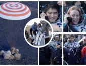 عودة 3 رواد فضاء للأرض على متن المركبة الروسية سويوز