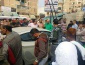 توقف حركة قطارات أبو كبير بالشرقية بسبب اصطدام قطار بسيارة على مزلقان ههيا